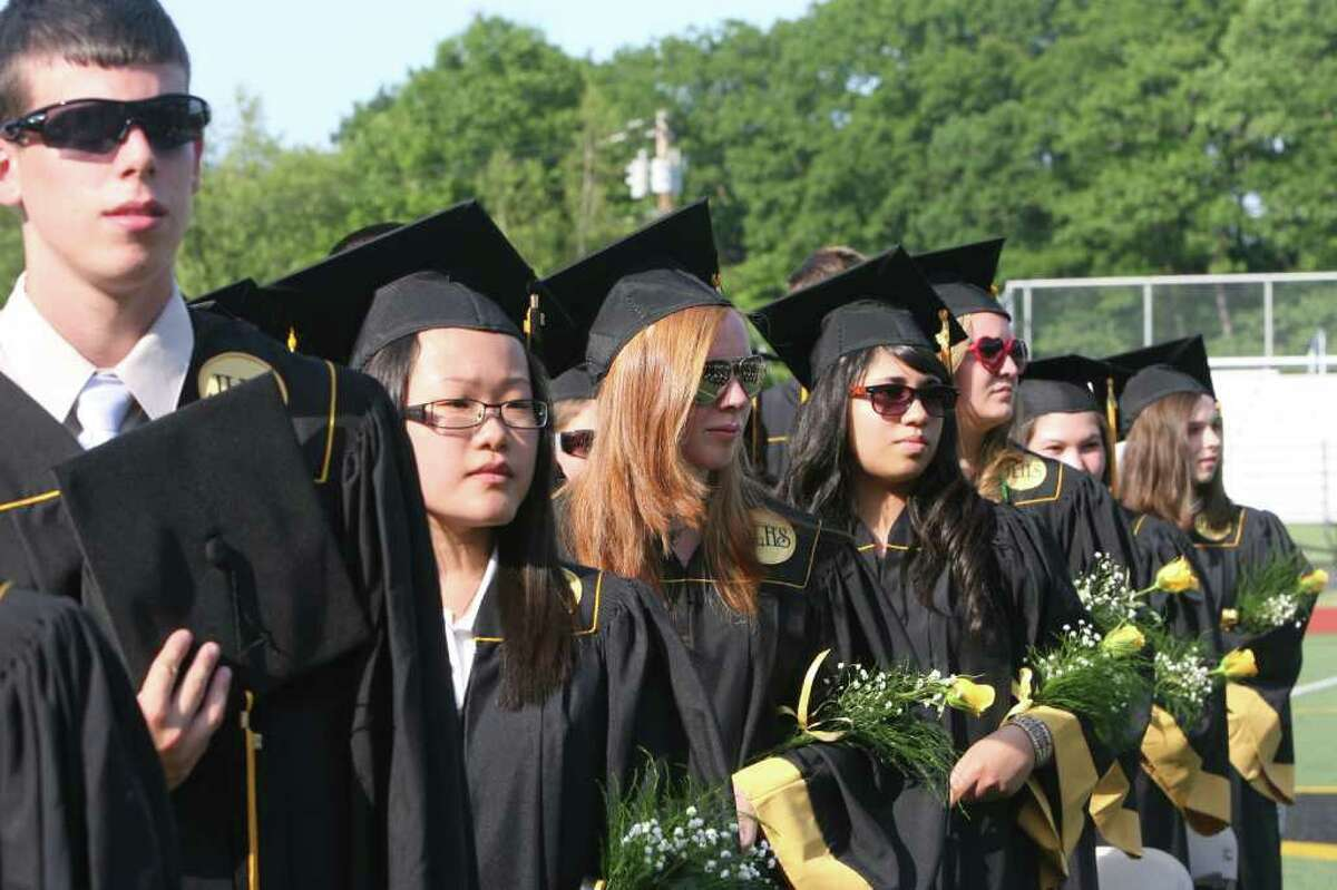Jonathan Law High School in Milford holds its Commencement ceremony on Monday, June, 20, 2011.