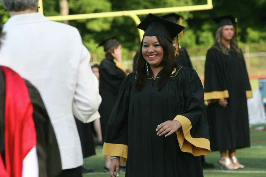Jonathan Law High School in Milford  holds its Commencement ceremony on Monday, June, 20, 2011. Photo: B.K. Angeletti / Connecticut Post