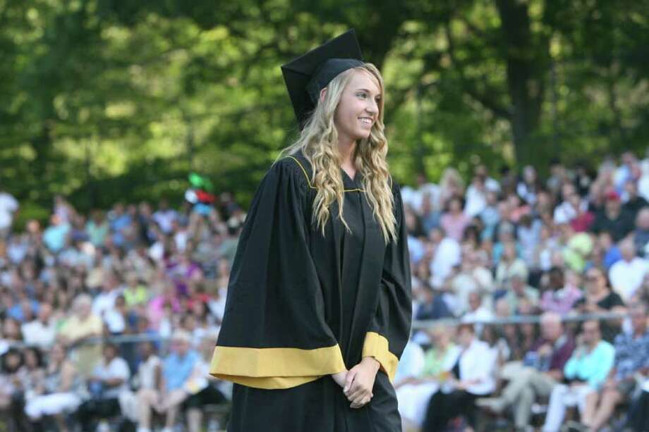Carly Ericson receives her diploma atthe Jonathan Law High School Commencement ceremony in Milford on Monday, June, 20, 2011. Photo: B.K. Angeletti / Connecticut Post