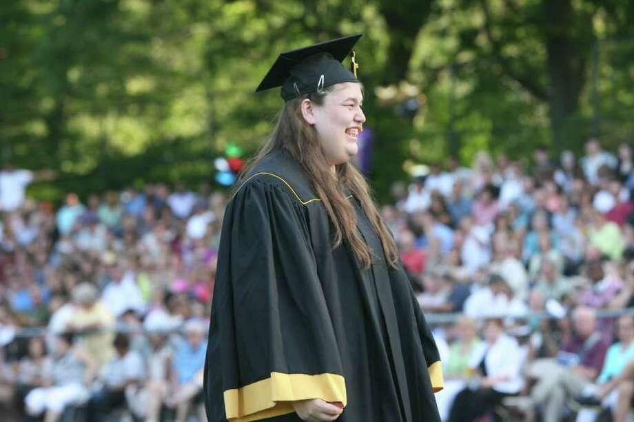 Jessica Foss receives her diploma at the Jonathan Law High School Commencement ceremony in Milfordon Monday, June, 20, 2011. Photo: B.K. Angeletti / Connecticut Post