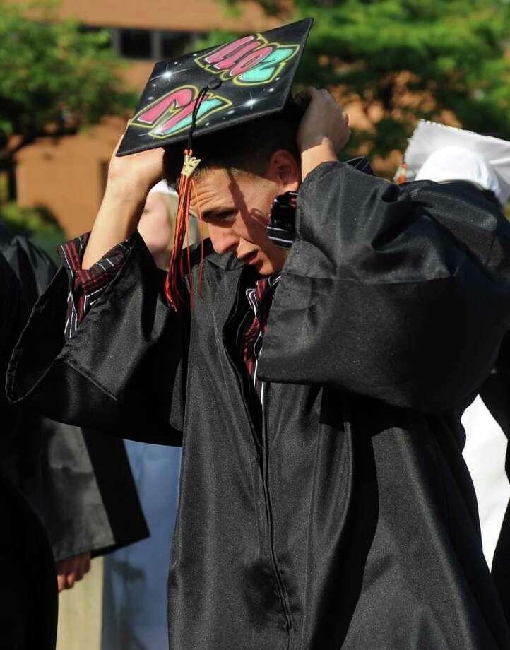 Shelton High School graduation ceremony on Monday, June 20, 2011. Photo: Lindsay Niegelberg / Connecticut Post