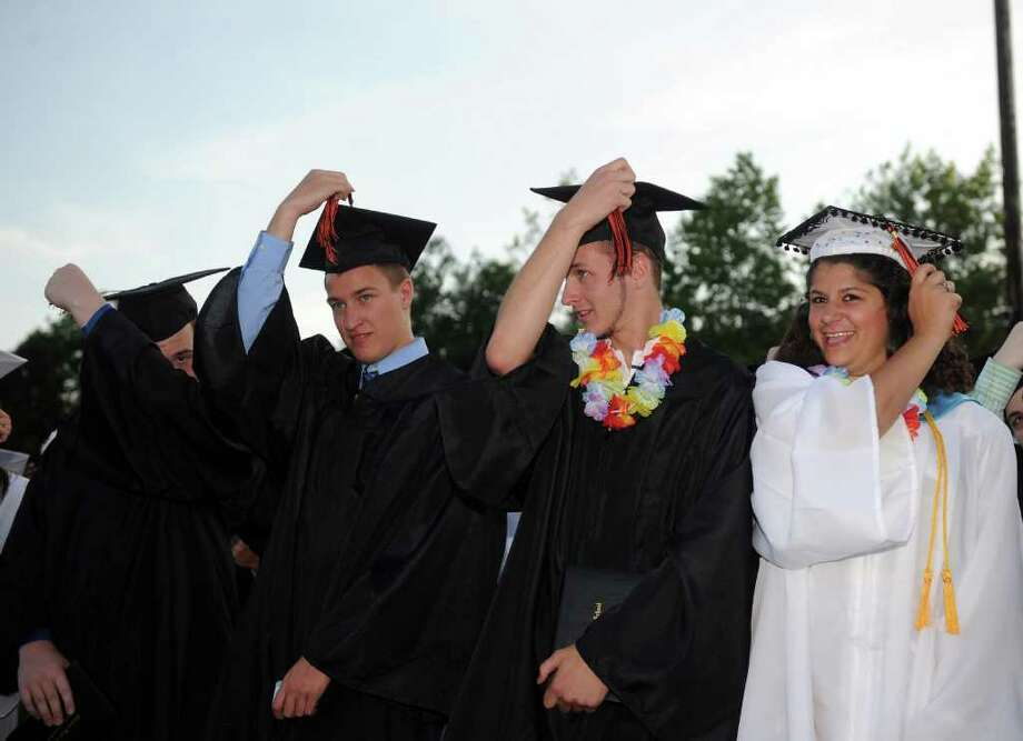 Shelton High School graduation ceremony on Monday, June 20, 2011. Photo: Lindsay Niegelberg / Connecticut Post