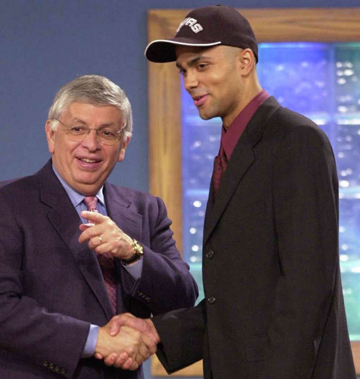 1. Tony Parker was selected by the San Antonio Spurs with the 28th overall pick in the 2001 NBA draft.
