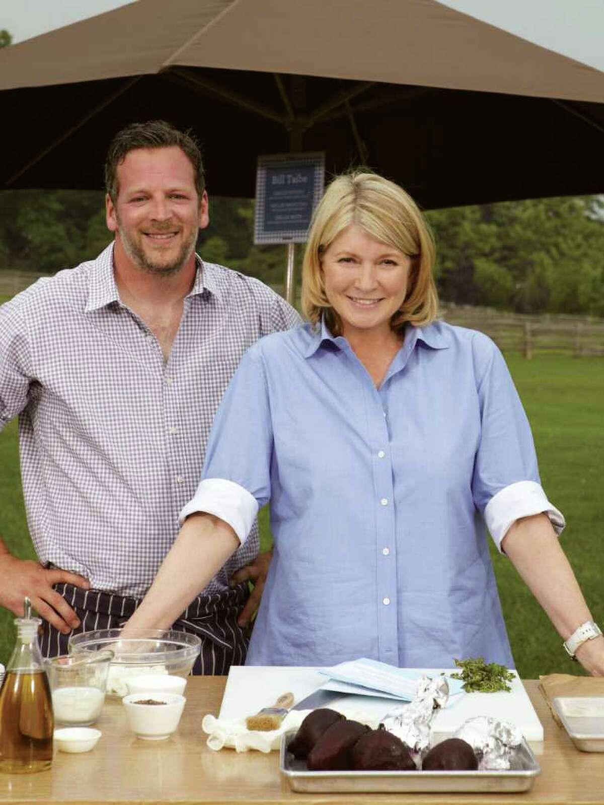 Bill Taibe, owner of Le Farm, with Martha Stewart