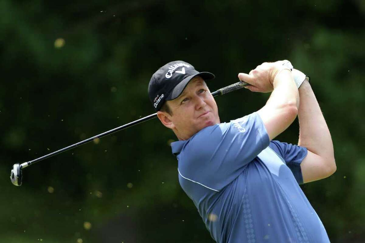 BETHESDA, MD - JUNE 18: J.J. Henry watches his tee shot on the second hole during the third round of the 111th U.S. Open at Congressional Country Club on June 18, 2011 in Bethesda, Maryland. (Photo by Andrew Redington/Getty Images)