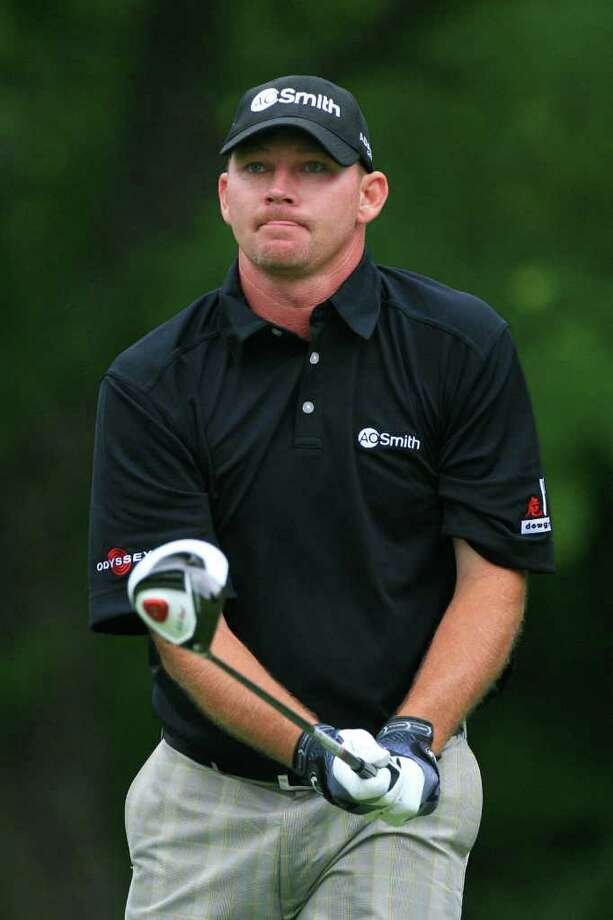 FT. WORTH, TX - MAY 19:  Tommy Gainey watches his shot during the first round of the Crowne Plaza Invitational at Colonial Country Club on May 19, 2011 in Ft. Worth, Texas. (Photo by Hunter Martin/Getty Images) *** Local Caption *** Tommy Gainey Photo: Hunter Martin, Getty Images / 2011 Getty Images
