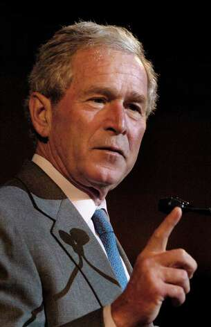 "U.S. President George W. Bush appeared to invoke Obama and Hitler differently when speaking at the Israeli parliament on May 15, 2008 in Jerusalem. Bush said: ""Some seem to believe that we should negotiate with the terrorists and radicals, as if some ingenious argument will persuade them they have been wrong all along. We have heard this foolish delusion before. As Nazi tanks crossed into Poland in 1939, an American senator declared: 'Lord, if I could only have talked to Hitler, all this might have been avoided.' We have an obligation to call this what it is - the false comfort of appeasement, which has been repeatedly discredited by history."" Obama accused Bush of launching a ""false political attack."" P.C. Piazza/The Associated Press / The Daily Advertiser"