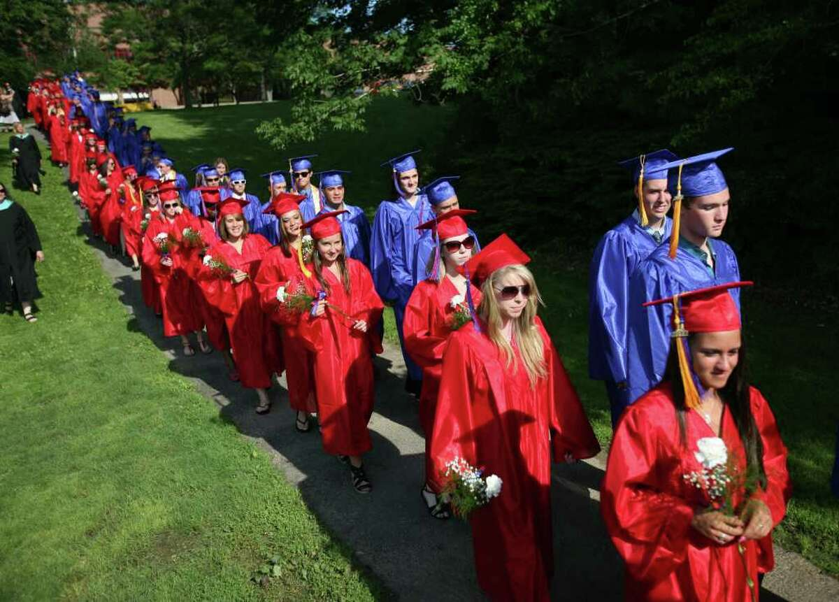 Foran High School graduation ceremony in Milford, Conn. on Monday, June 20, 2011.