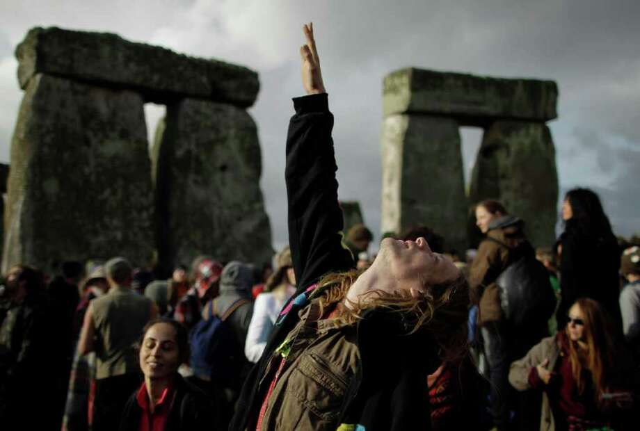 Druids have been marking the solstices and equinoxes at Stonehenge, near Salisbury, England, for thousands of years. In recent years, however, what had been a quiet affair has become a new-age festival, drawing thousands of people, particularly for the Summer Solstice, which is the longest day of the year in the Northern Hemisphere (because the northern half of the planet is tilted toward the sun). We start with celebrations of the Summer Solstice on Tuesday, June 21, 2011. Photo: Matt Dunham, ASSOCIATED PRESS / AP2011