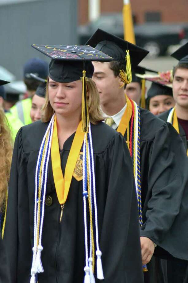 Trumbull High School Graduation in Trumbull, CT, 6/21/2011 Photo: Sean Meenaghan / Hearst Connecticut Media Group