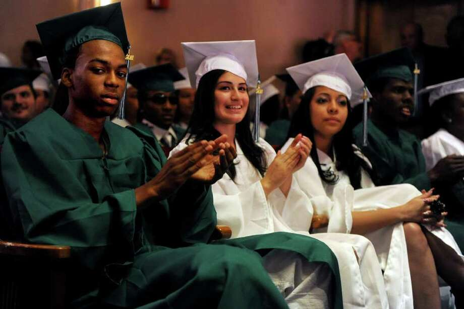 Bassick High School's graduation ceremony at Klein Memorial Auditorium on Tuesday, June 21, 2011. Photo: Lindsay Niegelberg / Connecticut Post