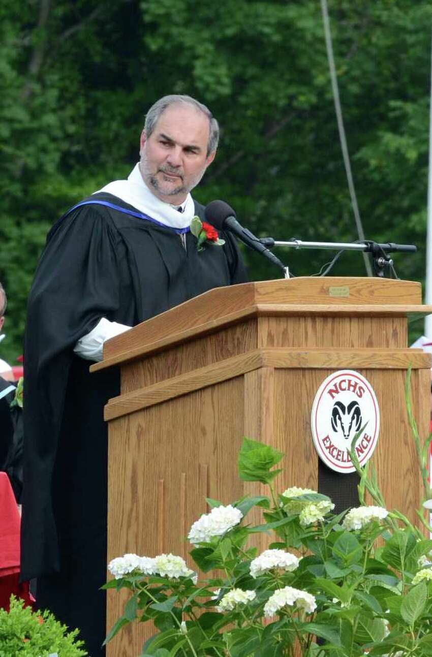 Principal Tony Pavia during the 2011 New Canaan High School Commencement on Tuesday, June 21, 2011.