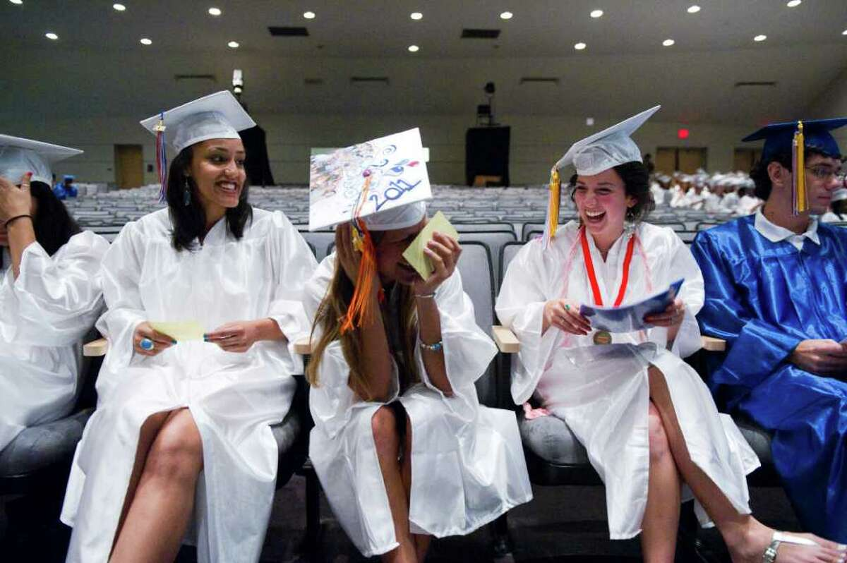 Brien McMahon High School celebrates its fiftieth graduating class with commencement exercises in Norwalk, Conn., June 21, 2011.
