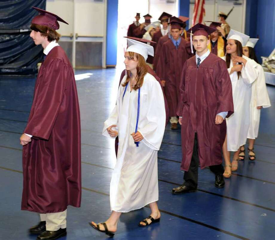 Bethel High School held its graduation ceremonies Tuesday, June 21, 2011 at Western Connecticut State University's O'Neill Center. Photo: Carol Kaliff / The News-Times