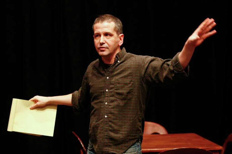 "David Cromer will direct ""A Streetcar Named Desire"" for the Williamstown Theatre Festival's summer 2011 season. Here, he acts as Stage Manager during a performance of Thornton Wilder's ""Our Town"" at Barrow Street Theater in New York, U.S., on Feb. 16, 2009. Cromer's version of the play was transferred from Chicago to New York with a mostly different cast. (Carol Rosegg/O&M Co. via Bloomberg News) Photo: CAROL ROSEGG / O & M CO."