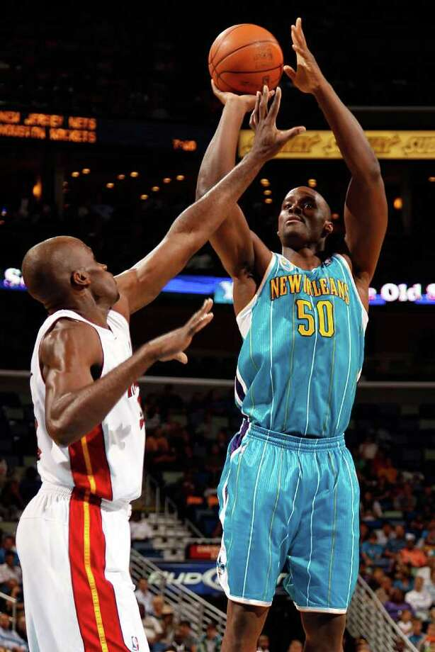 EMEKA OKAFOR was traded to the New Orleans Hornets for Tyson Chandler in 2009. He has spent the last two seasons in New Orleans. For his career, Okafor has started 480 of 484 games and averages 12.9 points, 10.2 rebounds and 1.8 blocks per game in seven seasons. (Photo by Chris Graythen/Getty Images) Photo: Getty Images