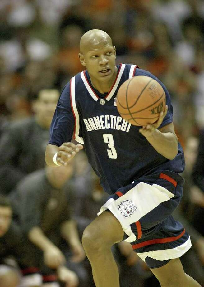 As a freshman, CHARLIE VILLANUEVA was an All-Big East rookie and a key contributor on UConn's 2004 national championship team. He was second team All-Big East after averaging 13.6 points and 8.3 rebounds. He declared for the NBA Draft in 2005 and was taken seventh overall by the Toronto Raptors. (Photo by Rick Stewart/Getty Images) Photo: Getty Images