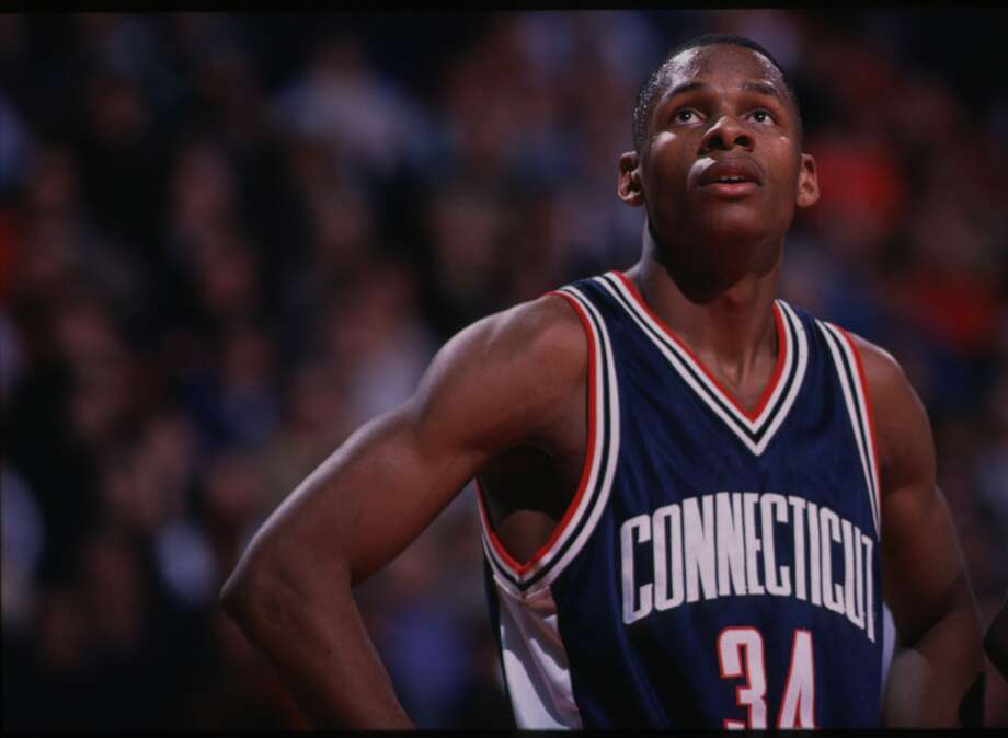 RAY ALLEN -- After a stellar career at UConn, Allen declared for the NBA draft following his junior season in 1996 and was taken No. 5 by the Minnesota Timberwolves. (Getty Images) Photo: Getty Images