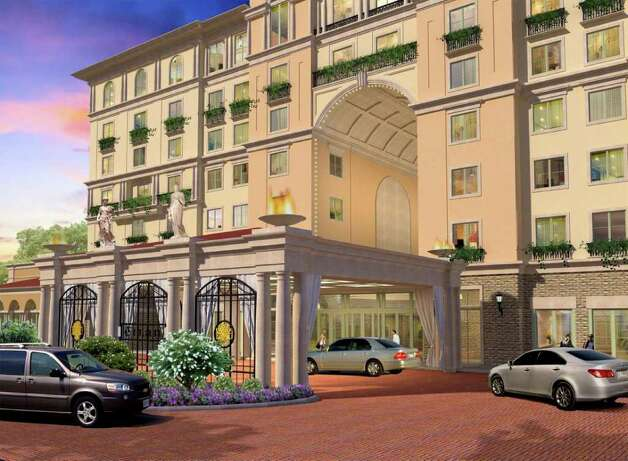An image of how the entrance to the hotel at the Éilan development will look. Photo: Courtesy Image