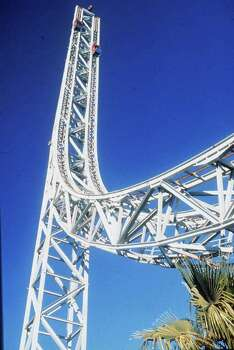Superman the Escape, at Six Flags Magic Mountain in Valencia, Calif., was once the world' s fastest roller coaster, hitting 100 mph in just seven seconds. Photo: Associated Press / MAGIC MOUNTAIN