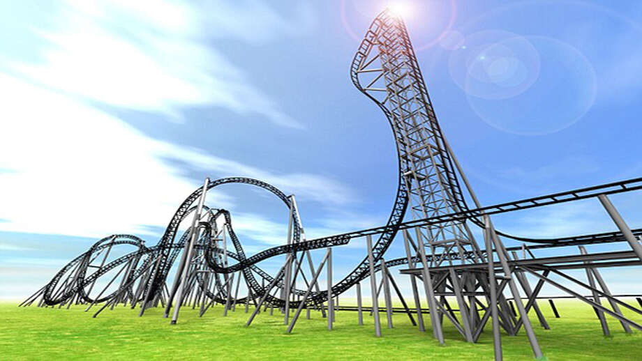 A rendering of the Takabisha roller coaster at Fuji-Q Highland Amusement Park in Japan. The ride, which boasts the world's steepest drop, is slated to open in July 2011. Photo: Promotional Image