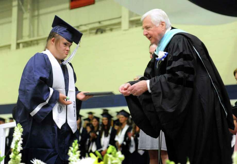 Staples High School in Westport, Conn. holds its 124th commencement ceremony Wednesday, June 22, 2011 at the school. Photo: Autumn Driscoll / Connecticut Post