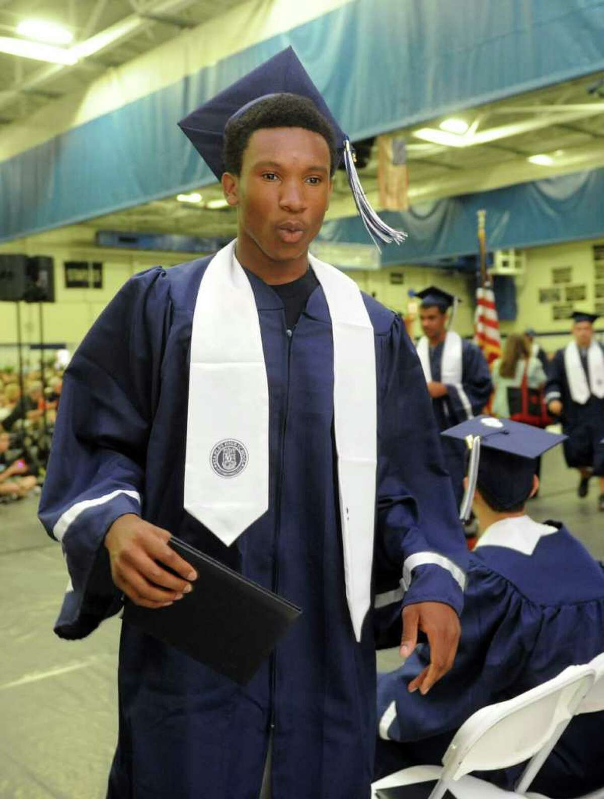 Staples High School in Westport, Conn. holds its 124th commencement ceremony Wednesday, June 22, 2011 at the school.