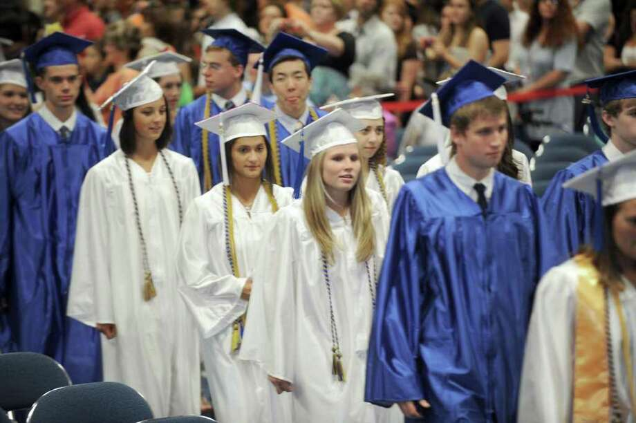 Newtown High School commencement exercises were held at Western Connecticut State University's O'Neill Center Wednesday, June 22, 2011. Photo: Carol Kaliff / The News-Times
