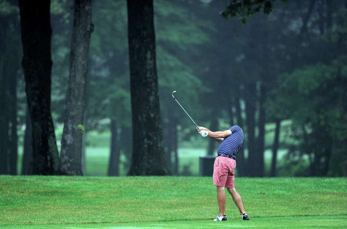 Tom McCarthy in action during quarterfinal match play at the 109th Connecticut Amateur Golf Championship, Rolling Hills Country Club, Wilton, Conn., Thursday morning, June 23, 2011.
