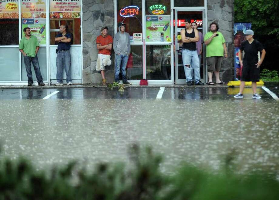 Heavy rains caused flooding in parts of Danbury Thursday, June 23, 2011. Photo: Carol Kaliff / The News-Times