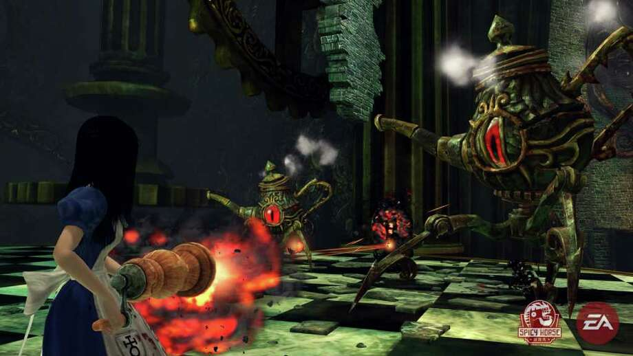 """In this image provided by Electronic Arts, Alice battles deadly teapots in a crumbling Wonderland in """"Alice: Madness Returns."""" (AP Photo/Electronic Arts) Photo: HOEP / Electronic Arts"""