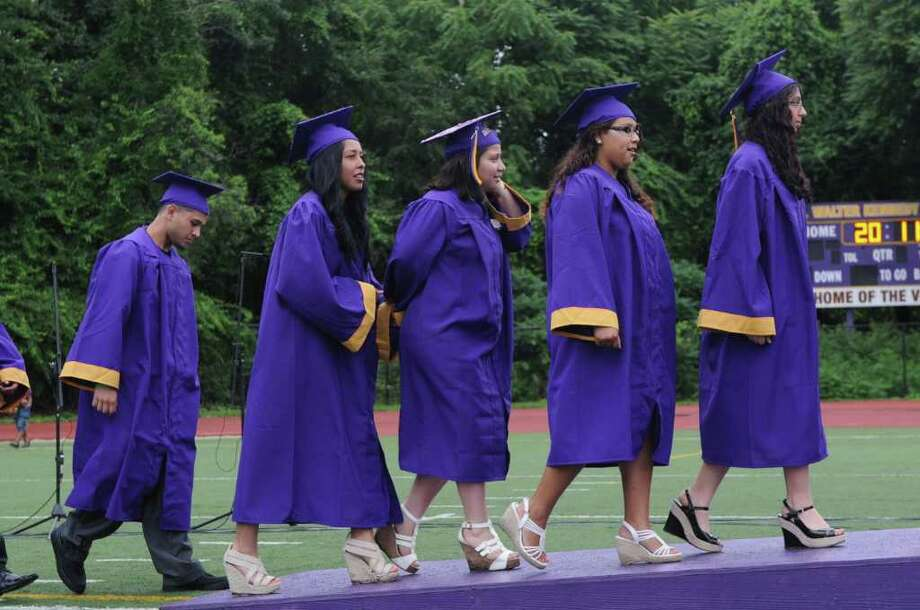 Westhill High School's class of 2011 commencement exercises in Stamford, Conn., June 23, 2011. Photo: Keelin Daly / Stamford Advocate