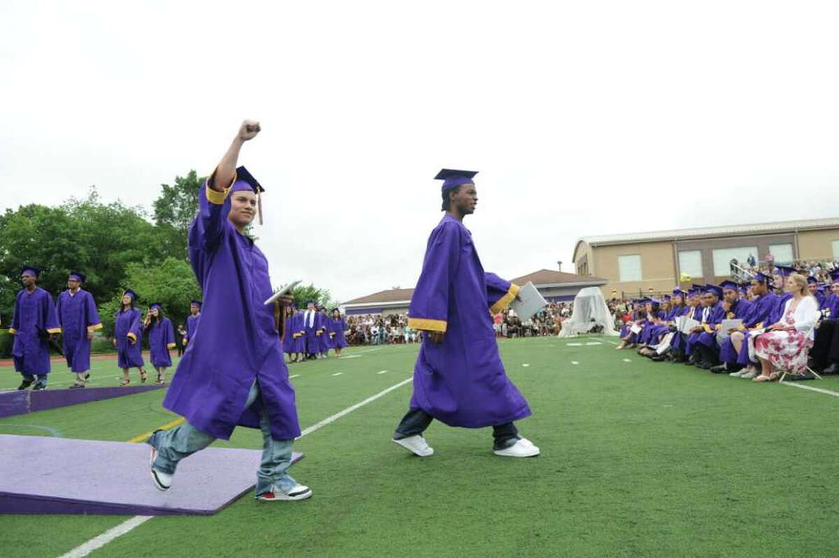 Westhill High School's class of 2011 commencement exercises in Stamford, Conn., June 23, 2011.