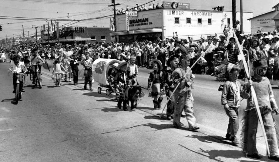 The kids parade at the 1950 Lake City Pioneer Days. Photo: Seattlepi.com File