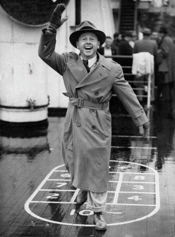 US film actor Mickey Rooney, (1920 -  ), arrives at Southampton on the 'Queen Mary'. He has a London engagement.  Original Publication: People Disc - HK0089 Photo: Keystone, Getty Images / Hulton Archive