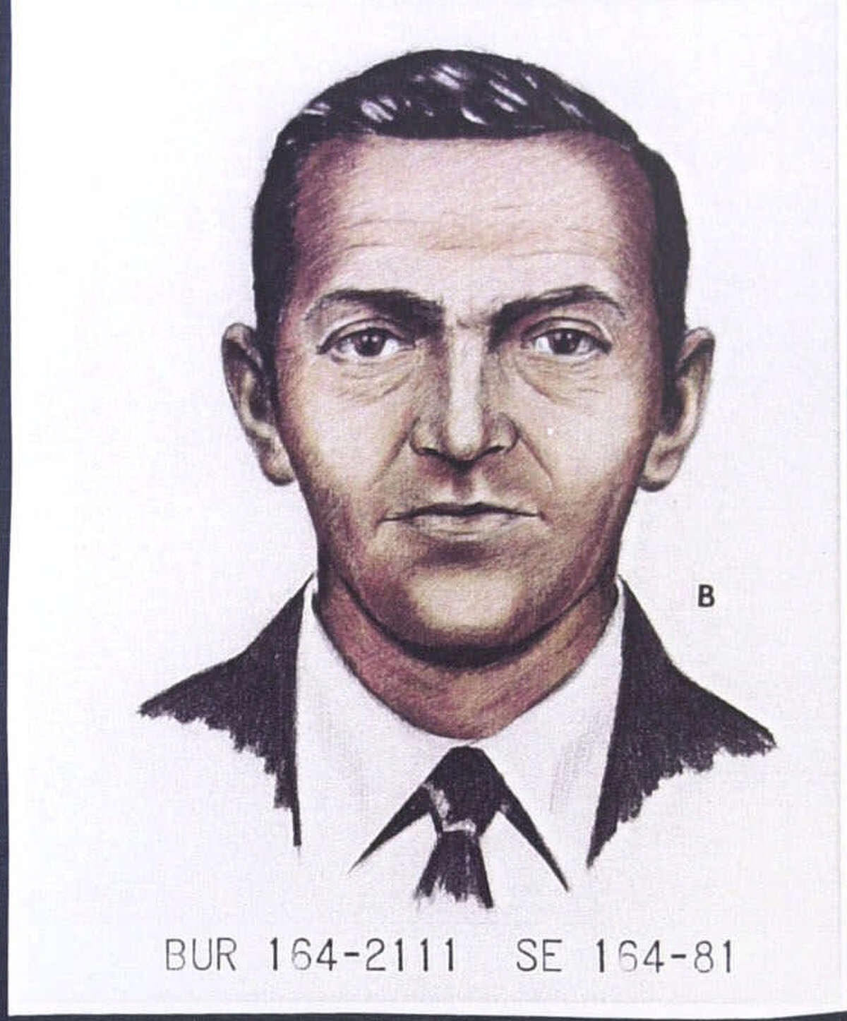 FILE--A 1981 FBI artist's rendition (top) shows D.B. Cooper as he looked in 1971 when he disappeared after parachuting from a skyjacked jetliner with $200,000 in ransom money. Jo Weber of Pace, Fla., claims that her late husband, Duane Weber, shown in a photo taken about 1977 (bottom) was Cooper. (AP Photo/Pensacola News Journal)