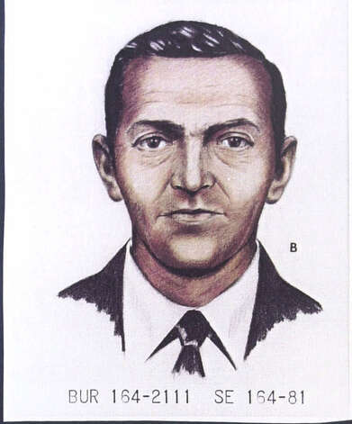 A 1981 FBI artist's rendition  shows D.B. Cooper as he looked in 1971 when he disappeared after parachuting from a skyjacked jetliner with $200,000 in ransom money. (seattlepi.com file) Photo: Associated Press / PENSACOLA NEWS JOURNAL-HANDOUT