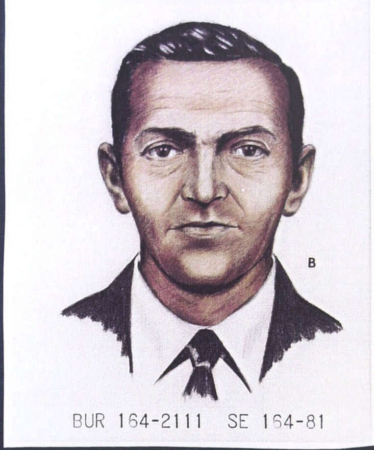 A 1981 artist's rendition of D.B. Cooper, the man never found in the nation's only unsolved hijacking. (seattlepi.com file) Photo: Associated Press / PENSACOLA NEWS JOURNAL-HANDOUT