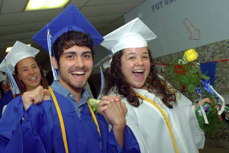 Commencement for the 2011 class of Frank Scott Bunnell High School in Stratford, Conn. June 23rd, 2011. Photo: Ned Gerard / Connecticut Post