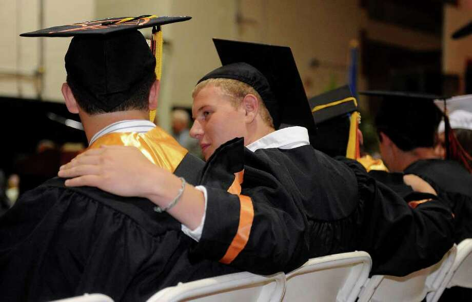 Stamford High School's graduation ceremony Thursday, June 23, 2011. Photo: Lindsay Niegelberg / Connecticut Post
