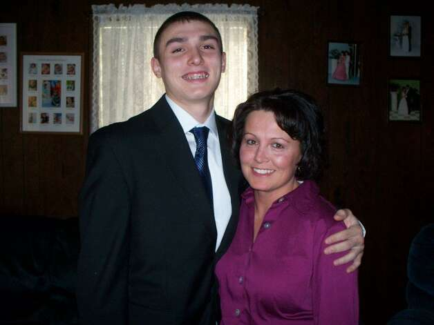 DJ Allman and his mother  Bonnie Allman of Watervliet. (Family photo)