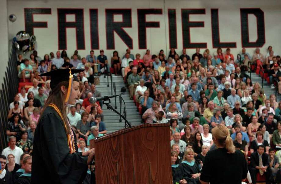Highlights from Fairfield Warde High School's 7th Annual Commencement Exercises in Fairfield, Conn. on Wednesday June 23, 2011. Photo: Christian Abraham / Connecticut Post
