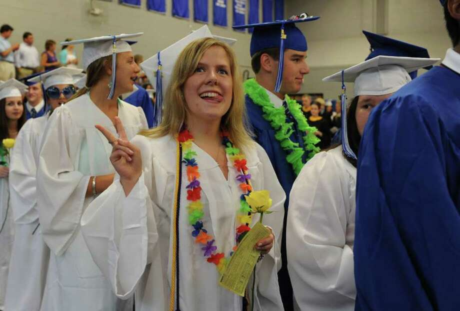 Fairfield Ludlowe High School holds its commencement ceremony Thursday, June 23, 2011 at the school. Photo: Autumn Driscoll / Connecticut Post