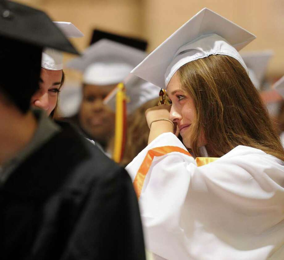 Stamford High School's graduation ceremony on Thursday, June 23, 2011. Photo: Lindsay Niegelberg / Connecticut Post
