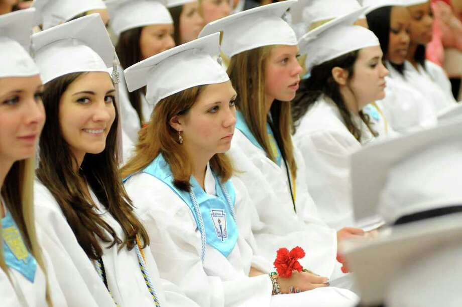 Masuk High School helds it's Graduation ceremony on Thursday June 23, 2011. Commencement ceremonies where held in the gymnasium due to rain. Photo: Lisa Weir / The News-Times Freelance