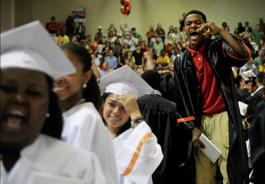 Stamford High School's graduation ceremony on Thursday, June 23, 2011. Photo: Lindsay Niegelberg / Connecticut Post