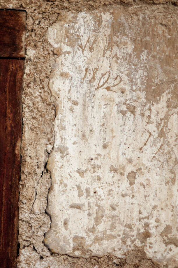 The date 1802 was etched into the wall above the chapel's main doorway. Photo: Courtesy Photo