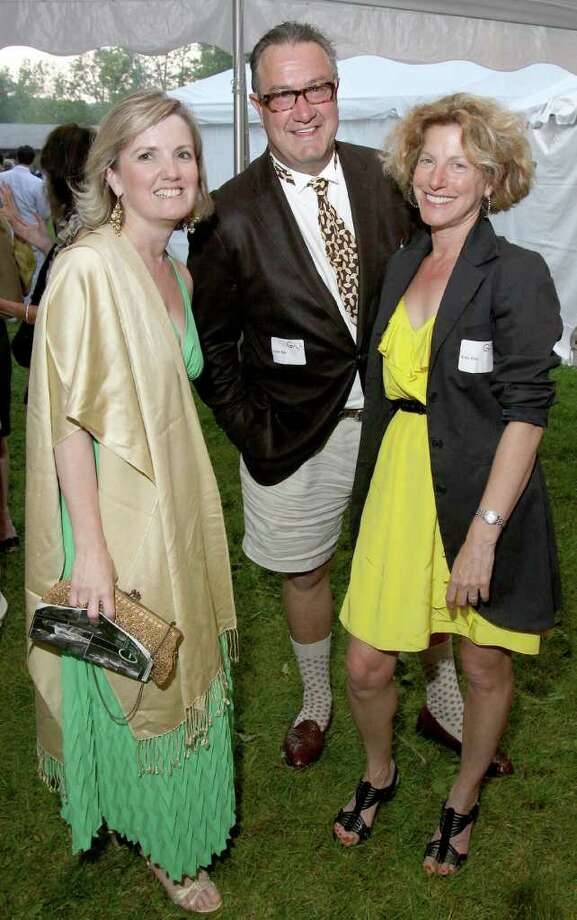 From left, Olivia Parton, Colter Rule and Katy Keller during the Jacob's Pillow 2011 Season Opening Gala. (Photo by Joe Putrock/Special to the Times Union) Photo: Joe Putrock / Joe Putrock