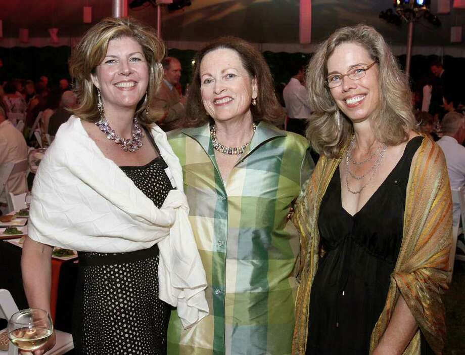 Beckett, MA - June 18, 2011 - (Photo by Joe Putrock/Special to the Times Union) - (l to r) Kate Morris, Hilary Somers Deely and Lisa Gamble during the Jacob's Pillow 2011 Season Opening Gala. Photo: Joe Putrock / Joe Putrock