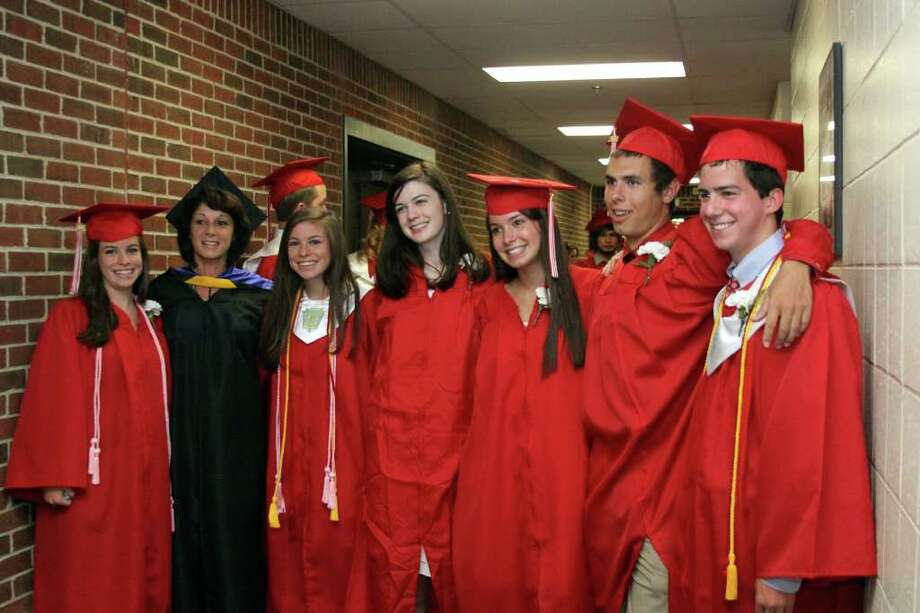 Pomperaug High School commencement exercises were held at Pomperaug High School Thursday, June 23, 2011. Photo taken 06/23/11. Photo: Walter Kidd / The News-Times Freelance